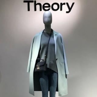 セオリー(theory)のtheory 美品 ダブルフェイスチェスターコート定価8,5 万 sizeP(チェスターコート)