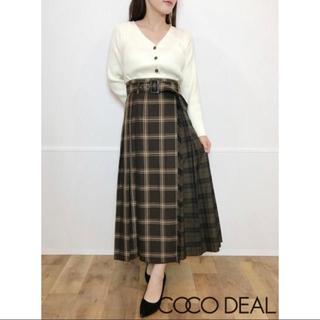 COCO DEAL - チェックMIXプリーツラップスカート