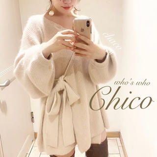 who's who Chico - 秋冬新作❄️¥9790【Chico】カシュクールアンゴラニットカーディガン