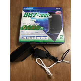 エヌイーシー(NEC)のWi-Fi 美品 ルーター PA-WG1200HP3 NEC(PC周辺機器)