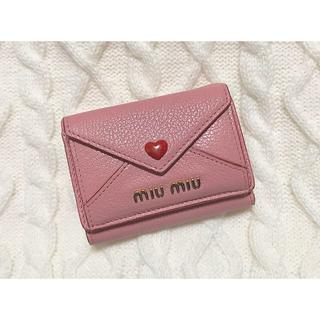 miumiu - miumiu ラブレター ミニ財布