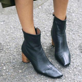 アメリヴィンテージ(Ameri VINTAGE)のAmeri vintage ラムレザー ショートブーツ(ブーツ)