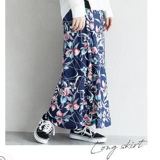 antiqua - 花柄 2way ロングスカート