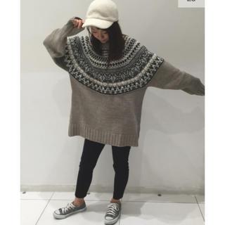 GU - ローゲージノルディックセーター
