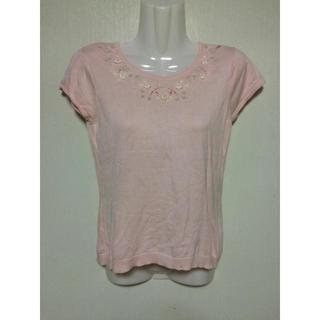 レディーストップス ピンク 半袖 かわいい 美品 (カットソー(半袖/袖なし))