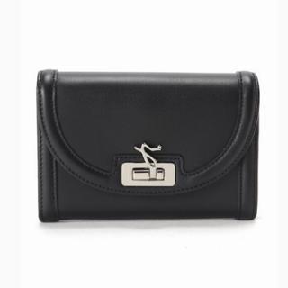 アニエスベー(agnes b.)のIENA購入 新品未使用 agnes b. パイピングWALLET黒(財布)
