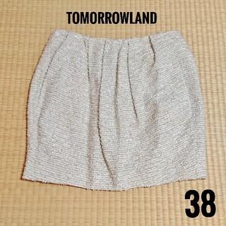 トゥモローランド(TOMORROWLAND)のトゥモローランド マカフィー ツイードスカート 38(ミニスカート)