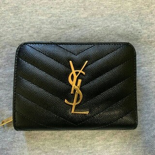 Yves Saint Laurent Beaute - 未使用品、保存品、ysl、黒いショート財布、レディース yves beaute