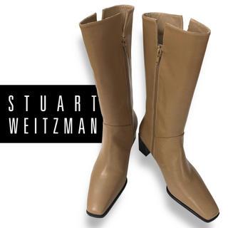 スチュワートワイツマン(Stuart Weitzman)の【未使用】STUART WEITZMAN ハーフブーツ23.5㎝(ブーツ)