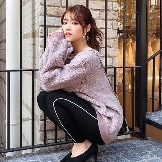 リエンダ(rienda)のrienda リエンダ 新作 Side line J/W leggings-R(その他)