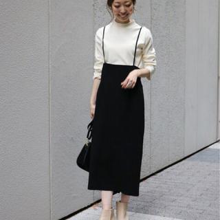 ノーブル(Noble)のNOBLE ノーブル ショルダーストラップサロペットスカート 38 黒(ロングスカート)