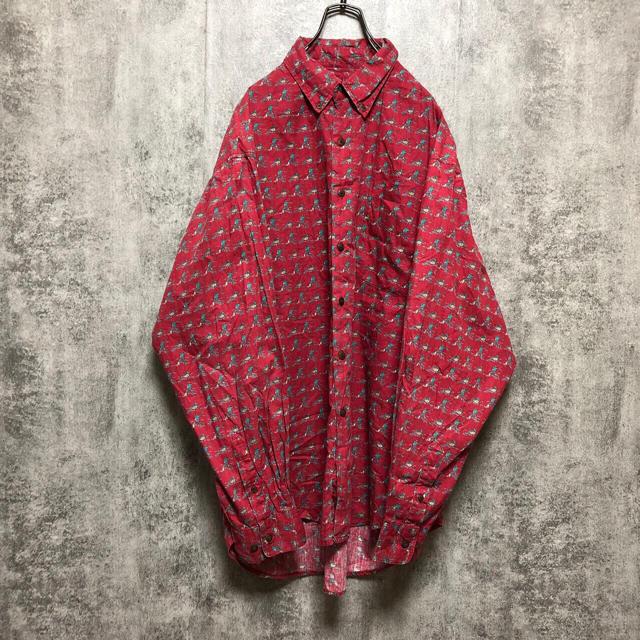 GAP(ギャップ)の【激レア】オールドギャップGAP☆フィッシングマン総柄シャツ 90s メンズのトップス(シャツ)の商品写真