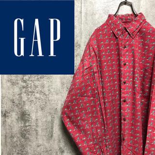 GAP - 【激レア】オールドギャップGAP☆フィッシングマン総柄シャツ 90s