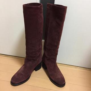ファビオルスコーニ(FABIO RUSCONI)のファビオルスコーニ ベロア ロングブーツ 38サイズ 美品(ブーツ)