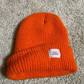 レイジブルー(RAGEBLUE)のオレンジニット帽(ニット帽/ビーニー)
