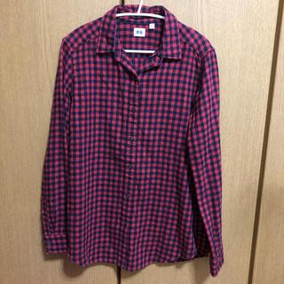 ユニクロ(UNIQLO)のユニクロ UNIQLO ブロックチェックシャツ L(シャツ/ブラウス(長袖/七分))