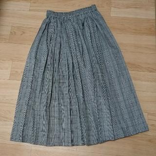 ウィゴー(WEGO)の[WEGO]チェック柄プリーツスカート グレー(ロングスカート)