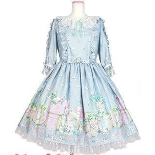 アンジェリックプリティー(Angelic Pretty)のun birthdayワンピース、カチューシャ(ひざ丈ワンピース)