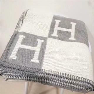 エルメス(Hermes)の人気 毛布 ブランケット グレー(毛布)