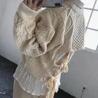 TODAYFUL - 美品 willfully  cashmere cable knit   3way
