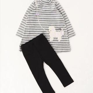 マザウェイズ(motherways)の新品♡マザウェイズ 女の子 上下セットアップ プードル 97(Tシャツ/カットソー)
