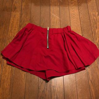 INGNI - ワインレッドのキュロットスカート