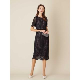 AIMER - AIMER (エメ) パネルレースタイトドレス