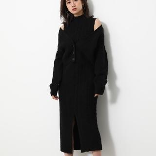 rienda - 今季最新作★リエンダ★MIX Cable Knit OP ブラック/F 未開封