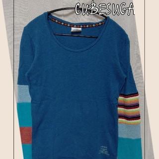 キューブシュガー(CUBE SUGAR)のCUBE SUGAR 袖切り替えカットソー(カットソー(長袖/七分))