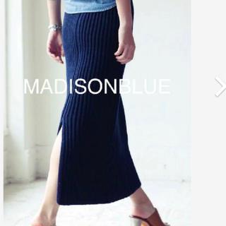 MADISONBLUE - madisonblue  ニットスカート ネイビー