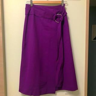 ルシェルブルー(LE CIEL BLEU)のLE CIEL BLEU 秋冬きれい色パープルラップスカート(ロングスカート)