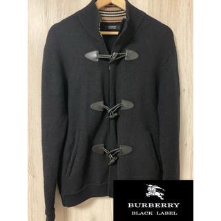 バーバリーブラックレーベル(BURBERRY BLACK LABEL)のバーバリー ブラックレーベル ニット ショート ダッフル  羊毛100%(ニット/セーター)