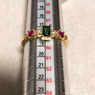 ゴールドリング ジルコニア 18号(リング(指輪))