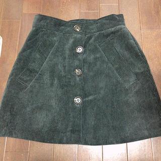 コーデュロイ グレースカート(ひざ丈スカート)
