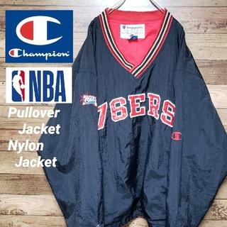 チャンピオン(Champion)のチャンピオン NBA プルオーバー ナイロンジャケット 刺繍ロゴ ビッグサイズ(ナイロンジャケット)