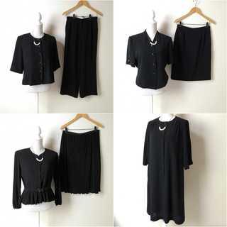 ブラックフォーマル 8着まとめ売り♪大きいサイズ 11~15号 ゆったり 喪服(礼服/喪服)