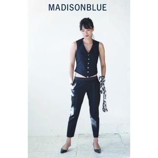 マディソンブルー(MADISONBLUE)の【MADISON BLUEマディソンブルー】ウールスリムパンツ/ブラック/00(カジュアルパンツ)