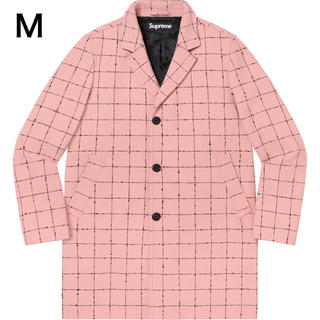 Supreme - 美品 Supreme Wool Windowpane Overcoat Mサイズ