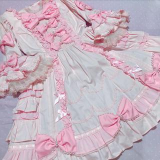 アンジェリックプリティー(Angelic Pretty)のアンジェリックプリティ 姫袖 ドレス ピンク(ひざ丈ワンピース)