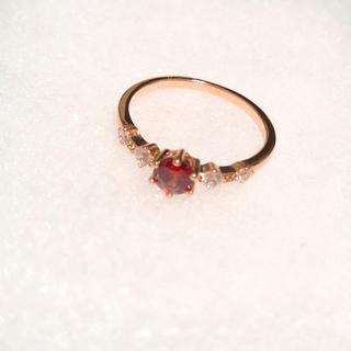 ピンクゴールドリング ジルコニア(リング(指輪))