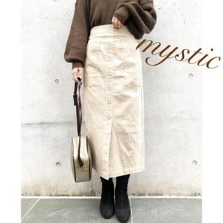 mystic - 前ボタンコーデュロイタイトスカート❤︎