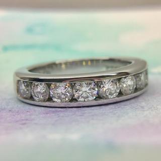ティファニー(Tiffany & Co.)の美品 ティファニー  0.81ct 3.9mm チャンネルセッティング リング(リング(指輪))