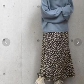 w closet - 花柄ロングスカート ダブルクローゼット