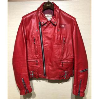 ルイスレザー(Lewis Leathers)のスペシャル 70s ルイスレザー ライニング レッドカラー(ライダースジャケット)