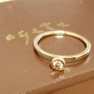 アガット(agete)の最終価格💎agete 0,1ctライトブラウンダイヤモンドリング(リング(指輪))