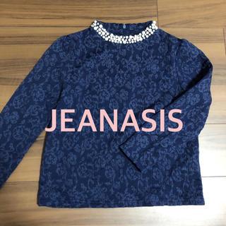 JEANASIS - 美品 ジーナシス JEANASIS 襟ビジュー 長袖カットソー