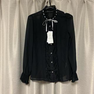 axes femme - タグ付き アクシーズ ブラウス スタンド襟 黒 ゆめかわいい 量産型 ヲタク