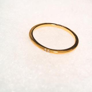 ゴールドリング ジルコニア(リング(指輪))
