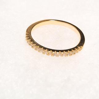 ゴールドリング ハーフエタニティリング  ジルコニア(リング(指輪))