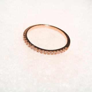 ピンクゴールド ハーフエタニティリング  ジルコニア(リング(指輪))